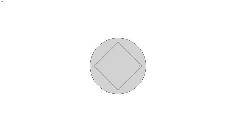 SQUARE HD PIPE PLUG, THRD, MM, ASME B1611, DN 100, Threaded