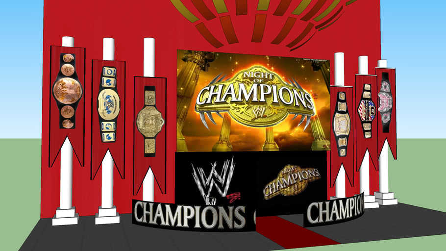 WWE NIGHT OF CHAMPIONS 2012 STAGE