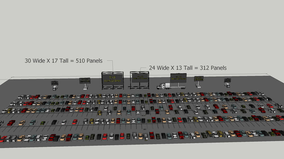 LED screens for Drive IN Movie Screen