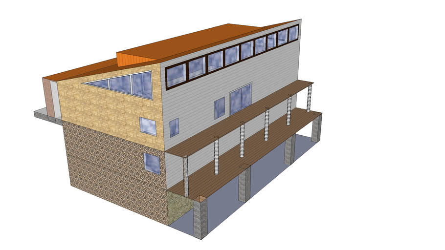 hillside home with two lower levels