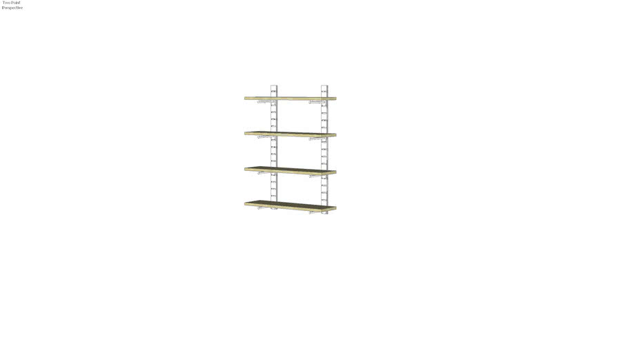 "46"" SlatStrip Unit W/10"" Brackets"