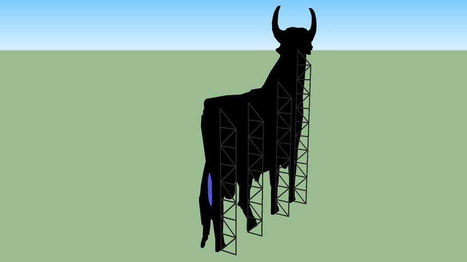 Toro de Osborne en La Cañiza (Pontevedra)