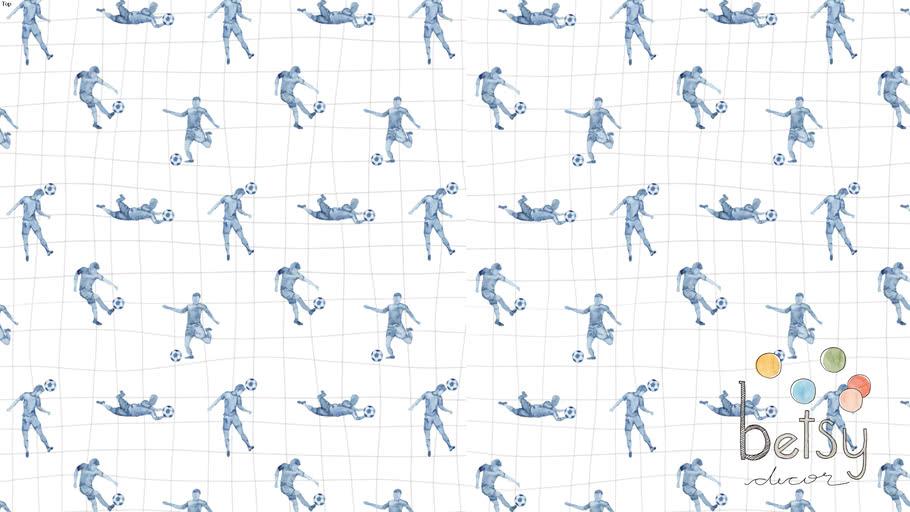 Betsy Decor - Papel de Parede Futebol Azul