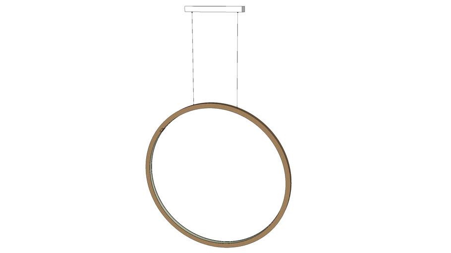 jacco maris   brass-O suspension lamp circle vertical 100cm
