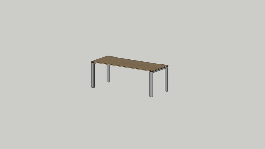 No.1 working table 2000x800 cutout