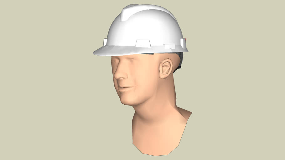 Safety First Series - Safety Hard Hat - MSA V-Guard w/ Ratchet Suspension & Brow Pad - White