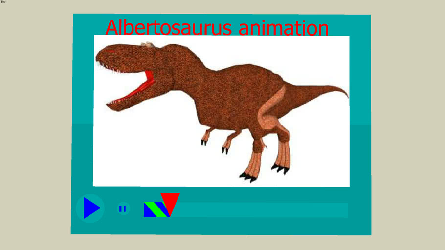 Albertosaurus animation (to big for 3dwarehouse)