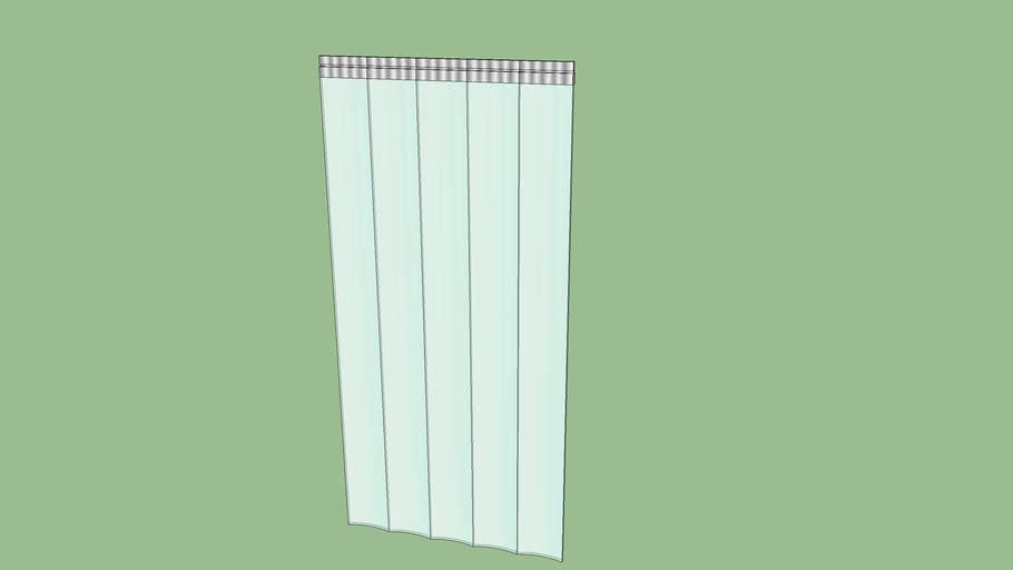 transparente rieles de montaje galvanizados Cortina de fleje de PVC Cortina el/ástica industrial de 3x300 mm protecci/ón contra salpicaduras completamente premontada resistente a la intemperie
