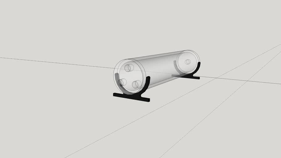250mm tube resivoir