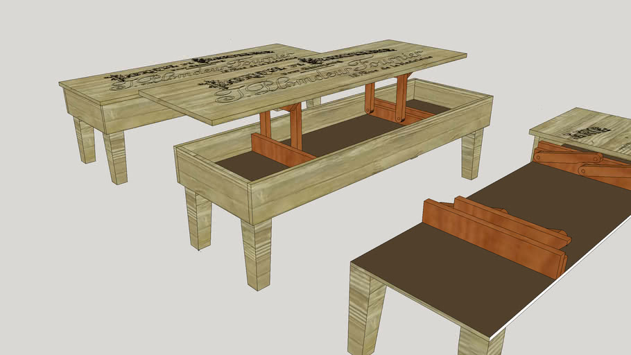 Lift Top Coffee Table With Cantilever Hinge 3d Warehouse