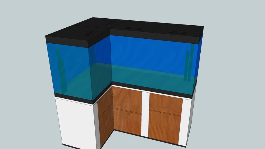 Eckaquarium 100x50x50