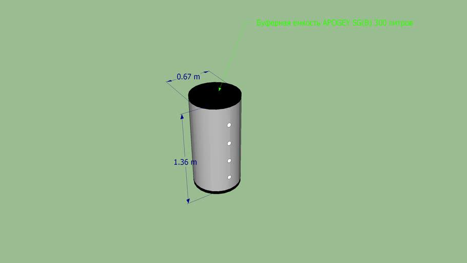 Буферная емкость APOGEY SG(B) 300 литров #avante99 #аванте99