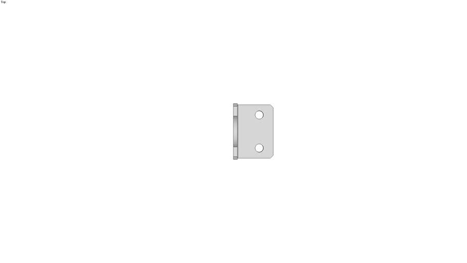 Angle bracket in zinc-plated steel