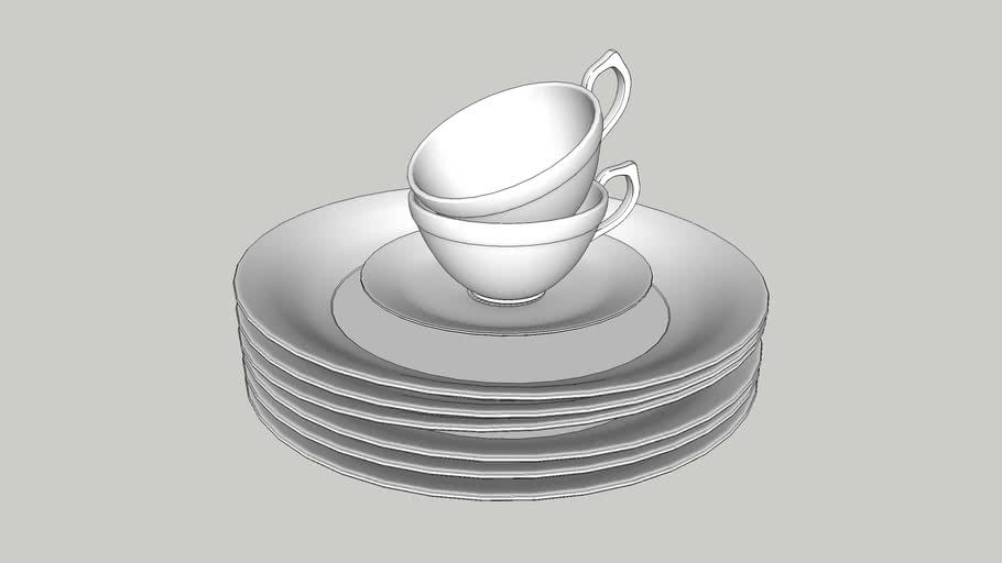 pratos e xícaras