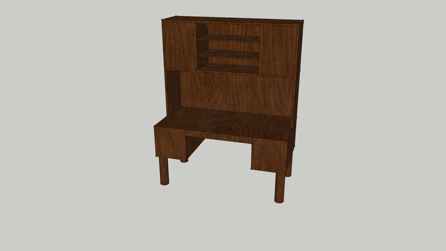 Large Desk with Hutch