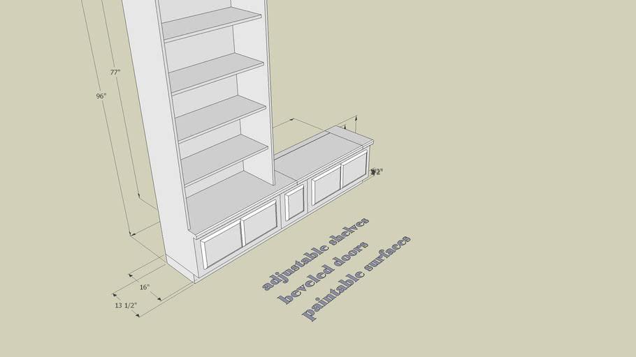 Shelving & window seat storage