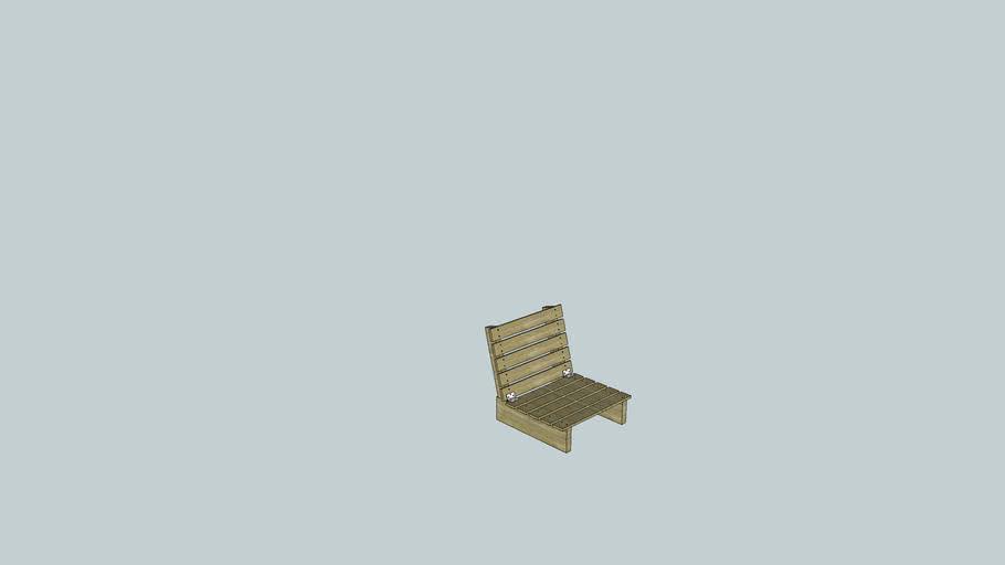 low Garden bench