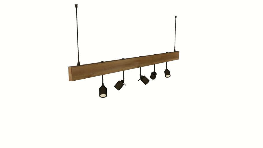 Wood Track Lighting Fixture