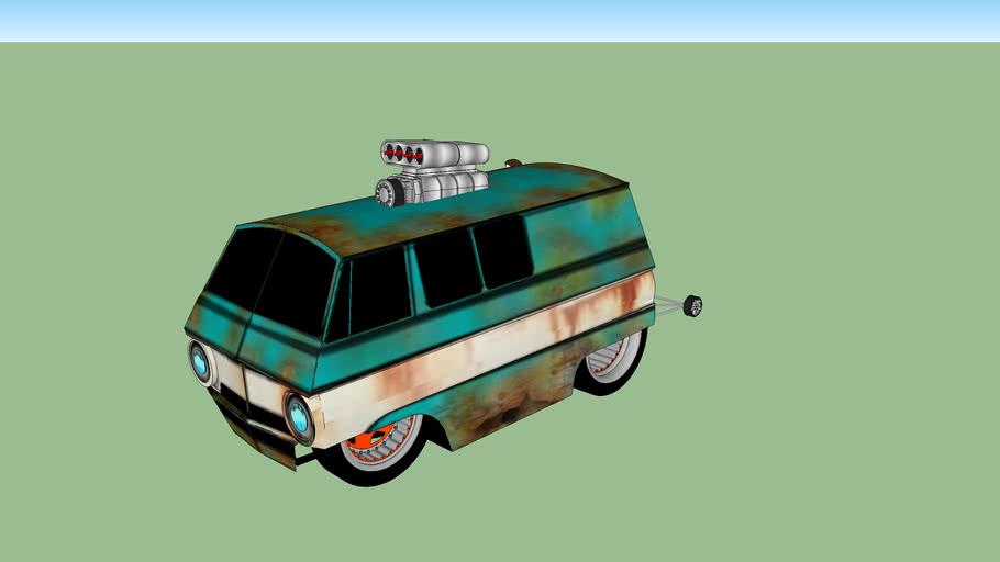 Wheelie-mobile Dodge A-100
