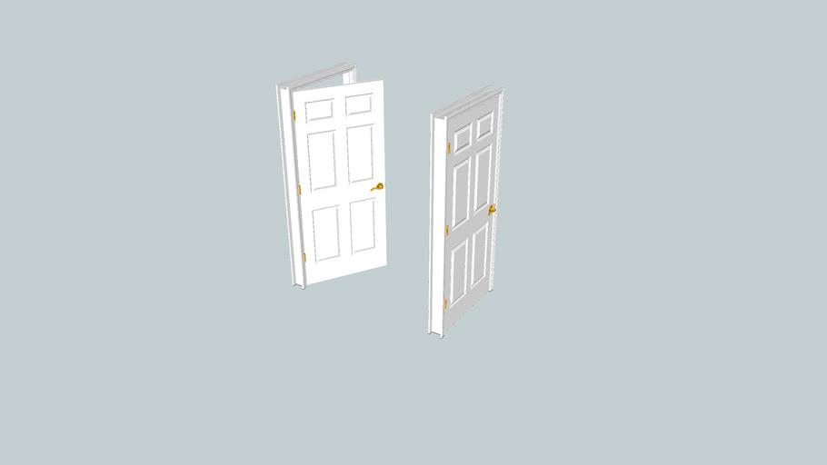 Six Panel Door - 36 inch