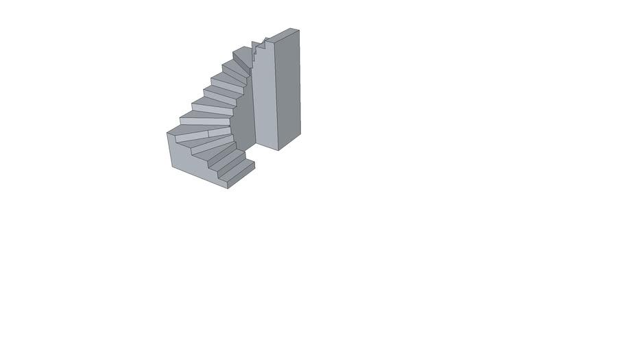 2-fach viertelgewendelte Treppe