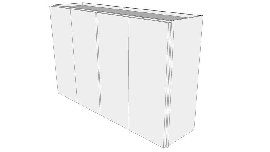 "Glenwood Wall Cabinet W4830F - 12"" Deep, Two Sets, Butt Doors"