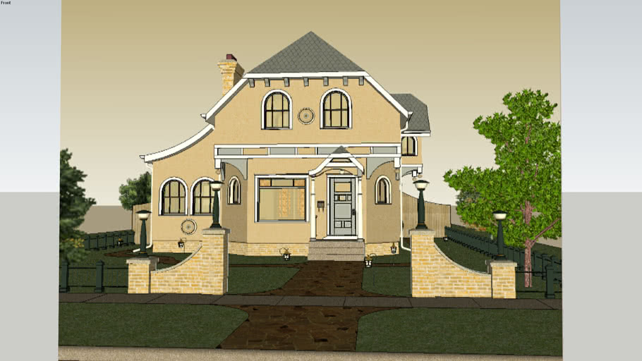 Eclectic Architectural Vintage Home (download at link)