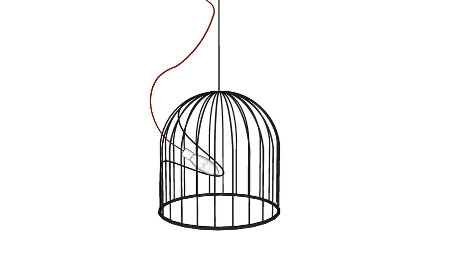 WIRE HANGING LAMP  BY ALTEK