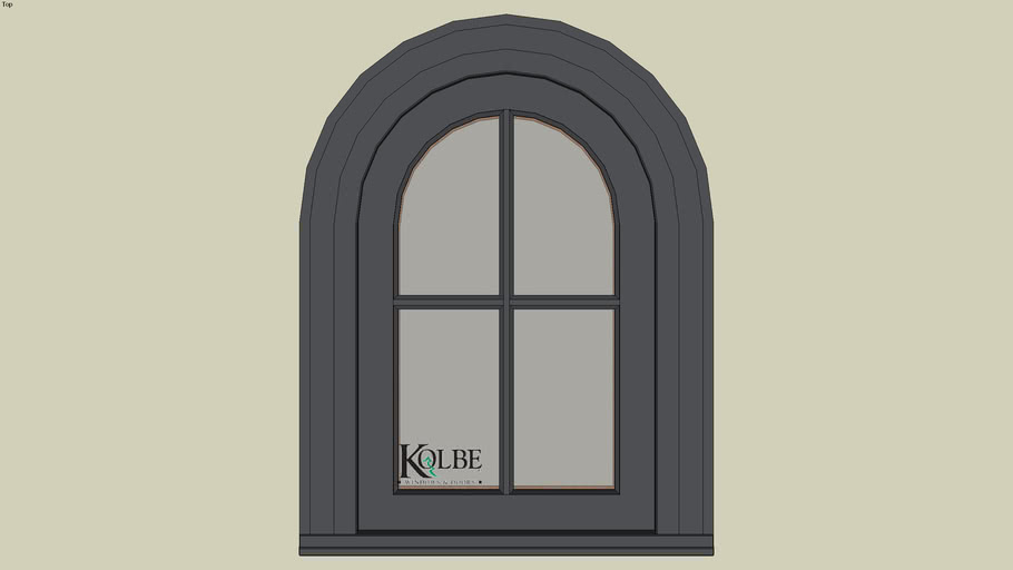 "Kolbe Ultra Half-Circle Top Casement KUN126-HC (F.S. 1'-8"" x 2'-6"" R.O. 1'-8 1/2"" x 2'-6 1/2"")"