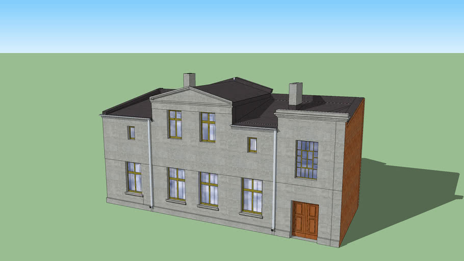 Old polish brick house
