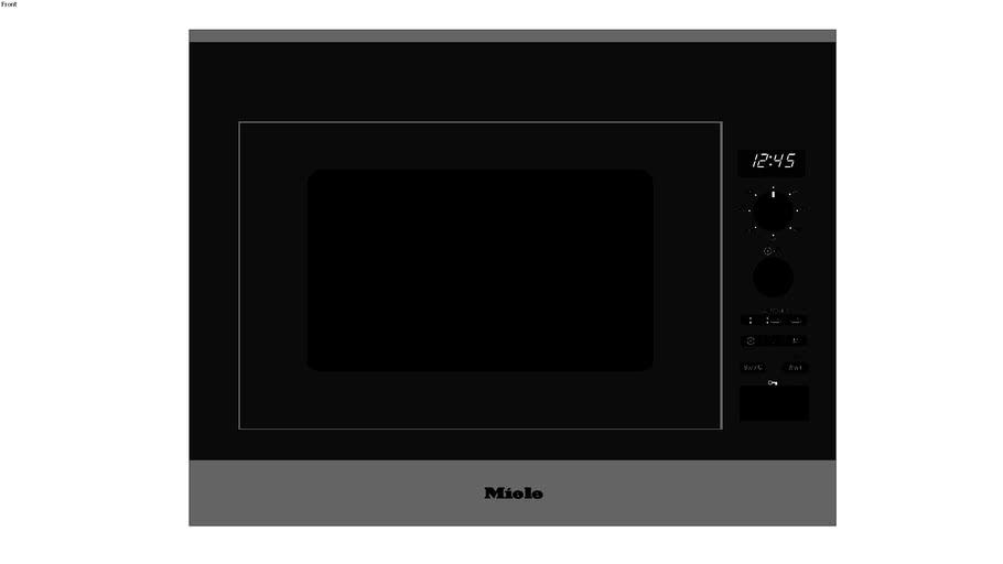 "MIELE PureLine 24"" Microwave Oven M 6040 SC v-ray ready"