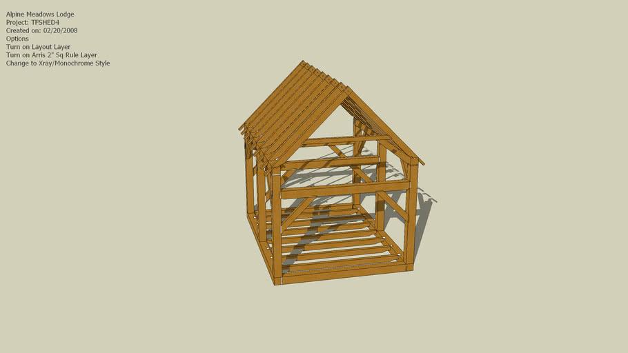 Timber frame shed design