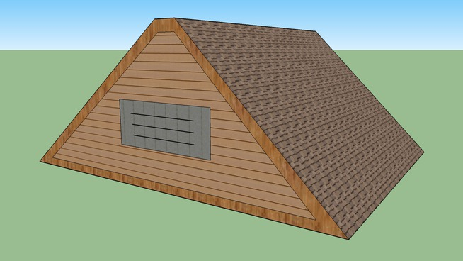 """Flat-""""A"""" Frame Roof *Offset**Generic*"""