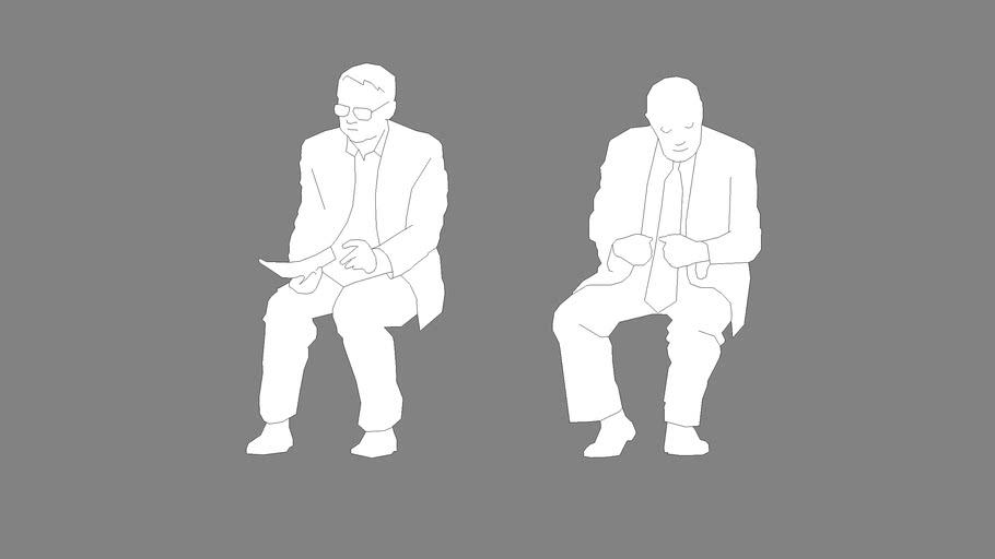 two men sitting