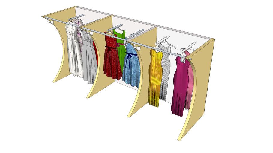 Kleiderregal für Shop-Einrichtung