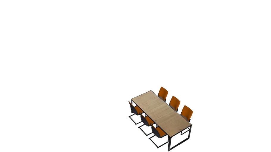6 Persoons Tafel Met Stoelen.6 Persoons Eettafel Met Stoelen By Flow Design 3d Warehouse