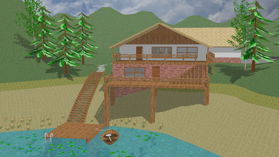 Hillside Lake house