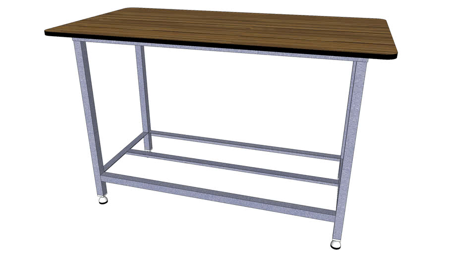Formica Table W Adjustable Rubber Footing 3d Warehouse