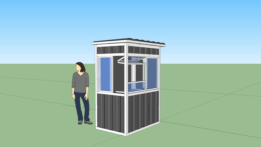 Container booth pizza gray