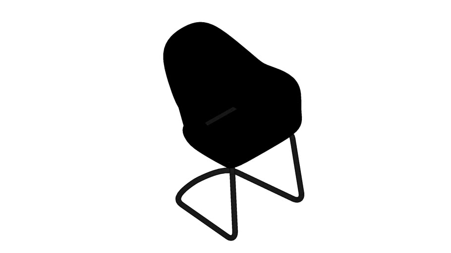 Avril High Back dining chair Cantilever base