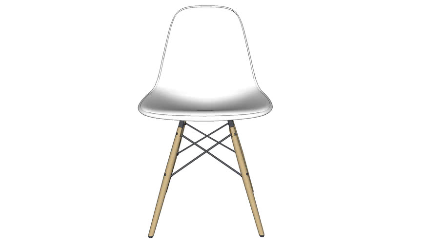 Vitra_Eames Plastic Side Chair WOOD DSW