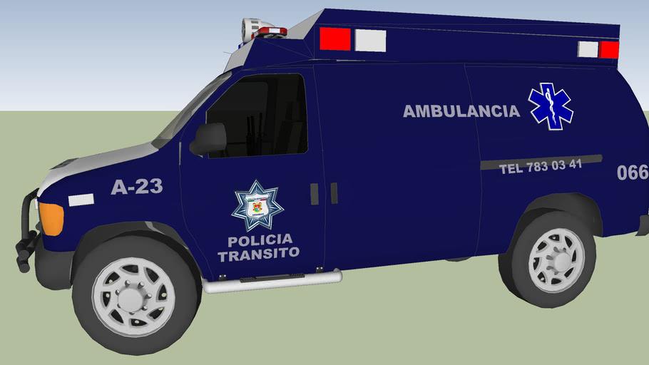 ambulancia de la policia municipal prventiva