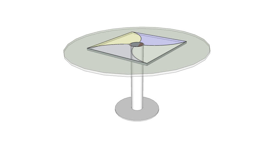 Stained Centered Glass Table