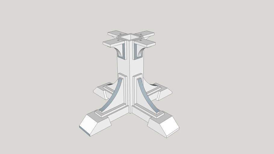 Table leg base