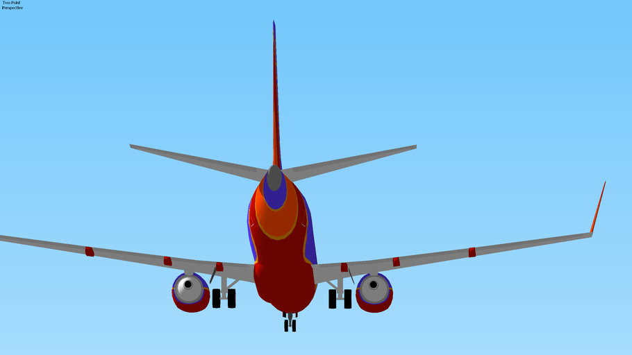 Southwest Airlines Boeing 737-7H4W Landing in San Diego, USA.
