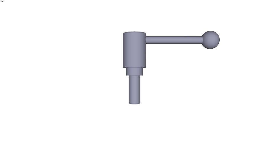 Indexing tension lever external thread...0° - size 4 M20  threaded rod length 50 mm