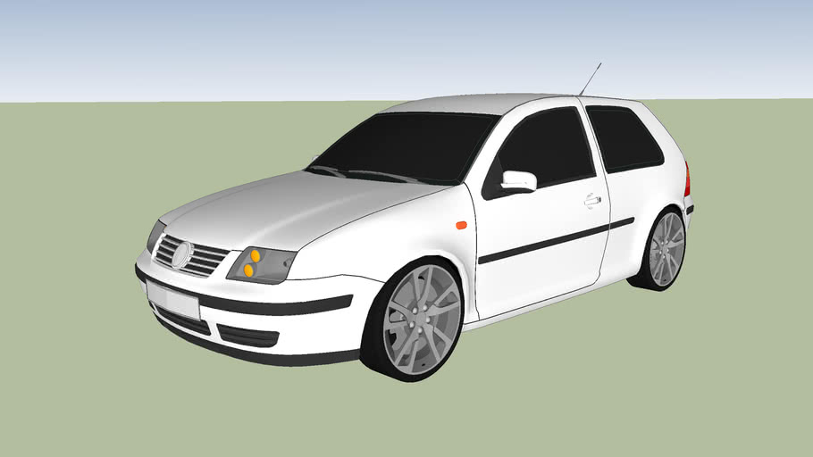 VW Golf 4 With The Front Of The Bora (Bolf)