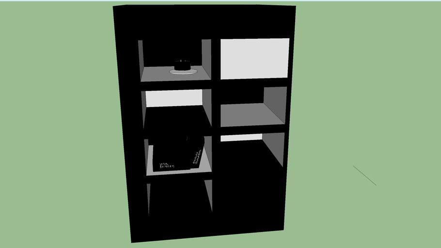 Petite bibliothèque noir et blanche