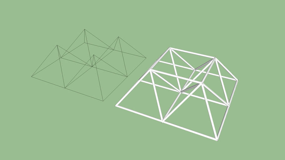 cubierta triangulada