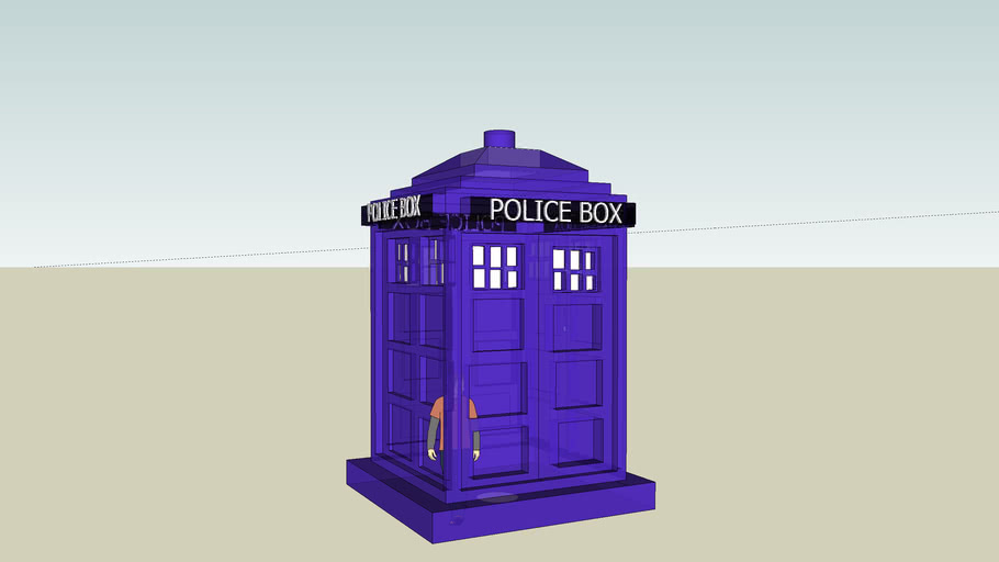 THE POLICE BOX OFF OF DOCTOR WHO